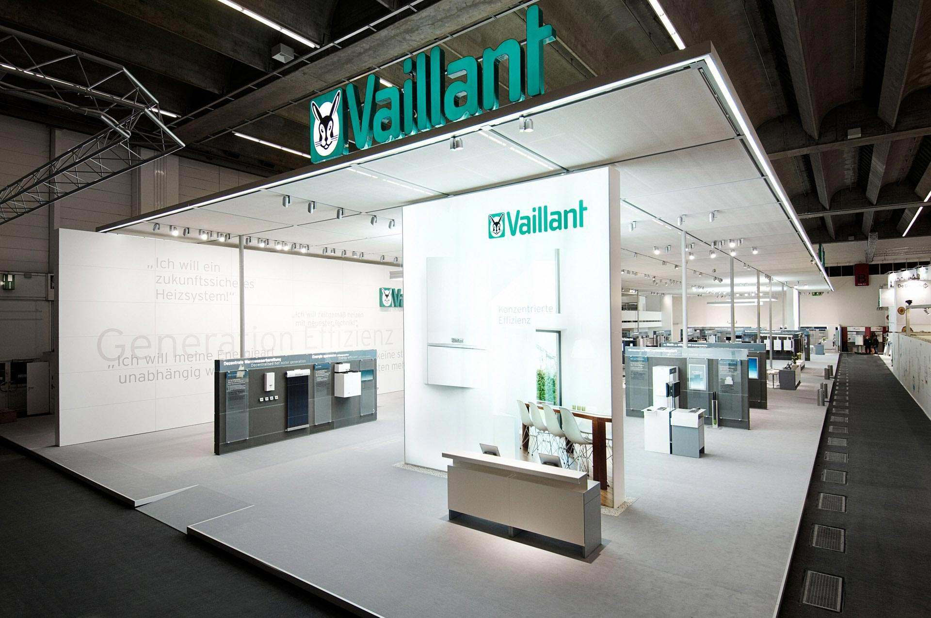 vaillant messestand neuer markenauftritt im raum. Black Bedroom Furniture Sets. Home Design Ideas